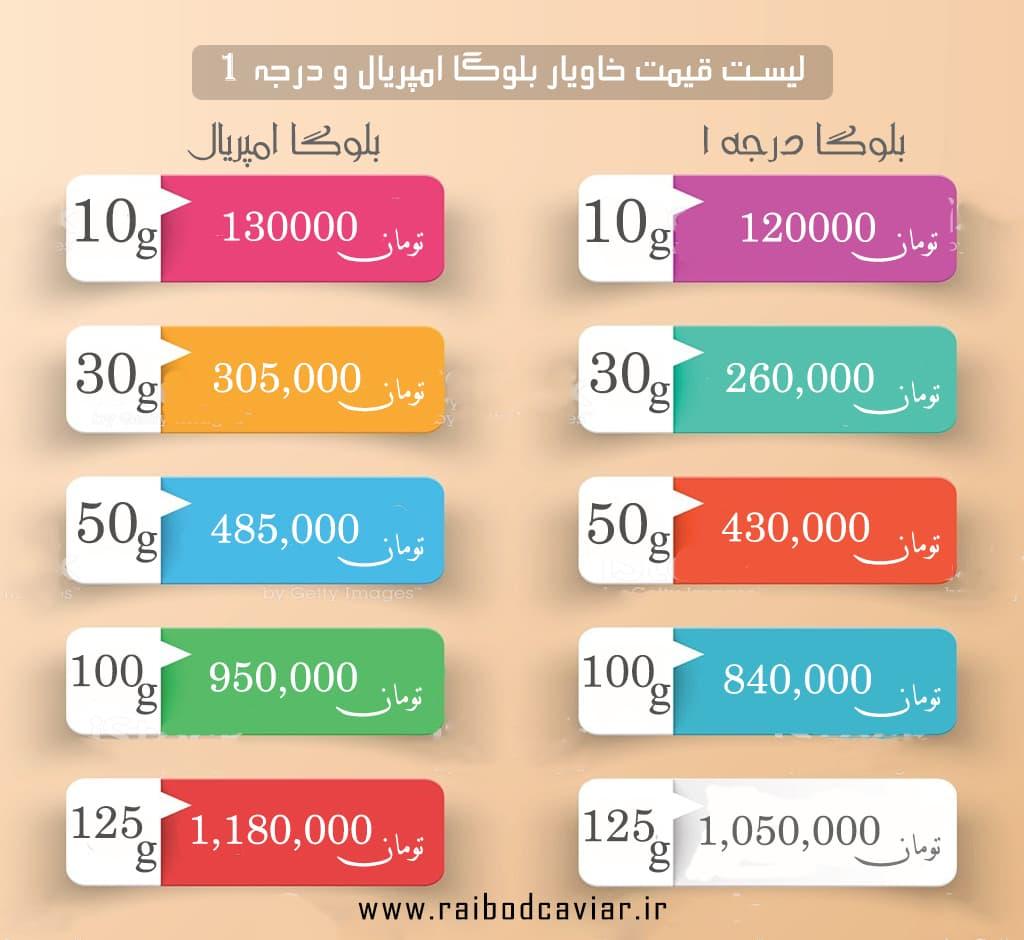 خاویار اصل قیمت