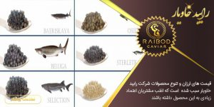 انواع خاویار در بازار ایران